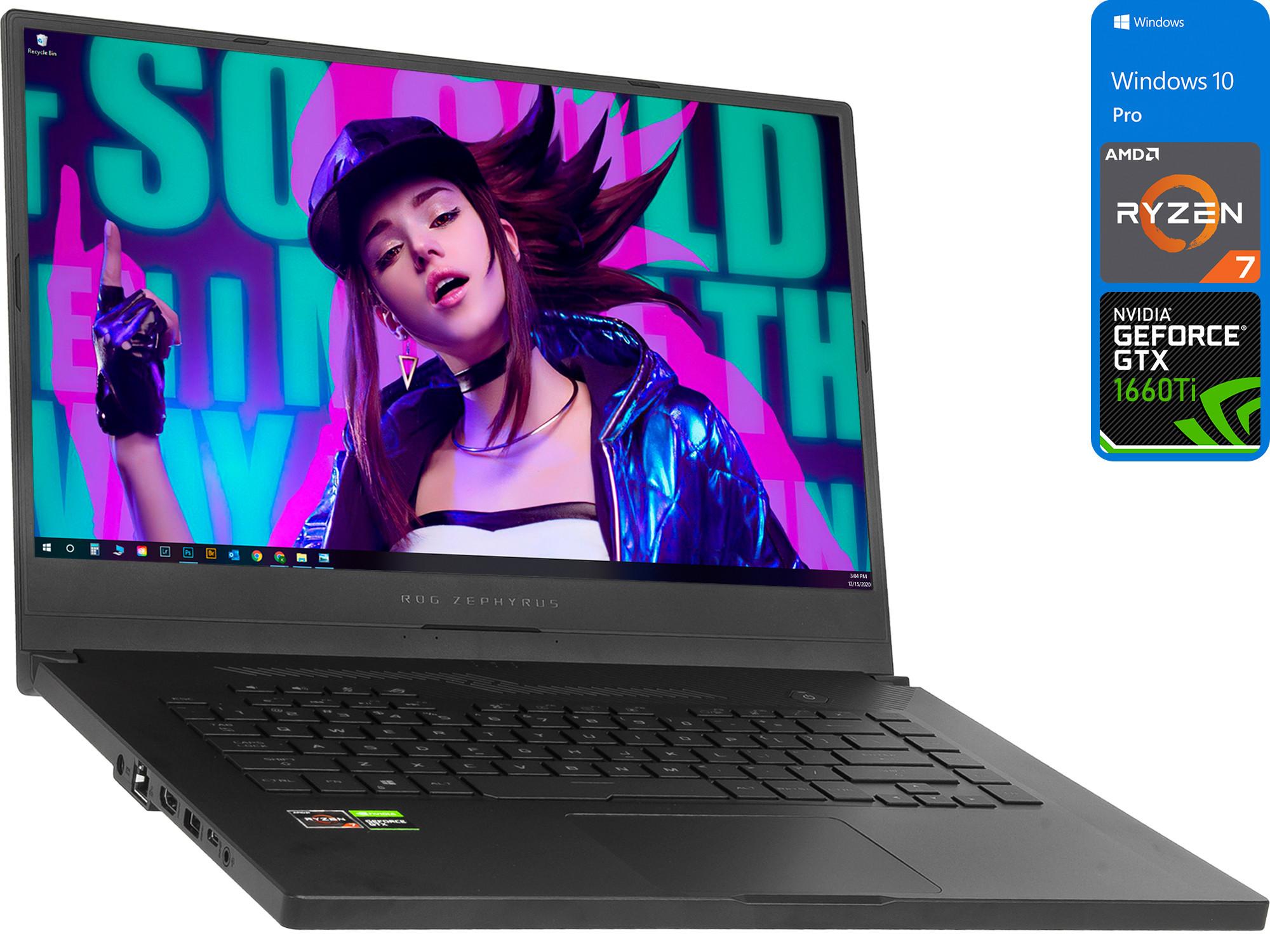 ASUS ROG Zephyrus G15 15.6″ 144Hz Gaming Laptop, AMD Ryzen 7, 8GB RAM, 256GB