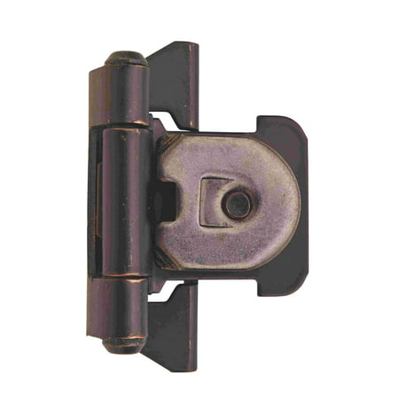 1/4 in (6 mm) Overlay Double Demountable Oil-Rubbed Bronze Hinge - 2 -