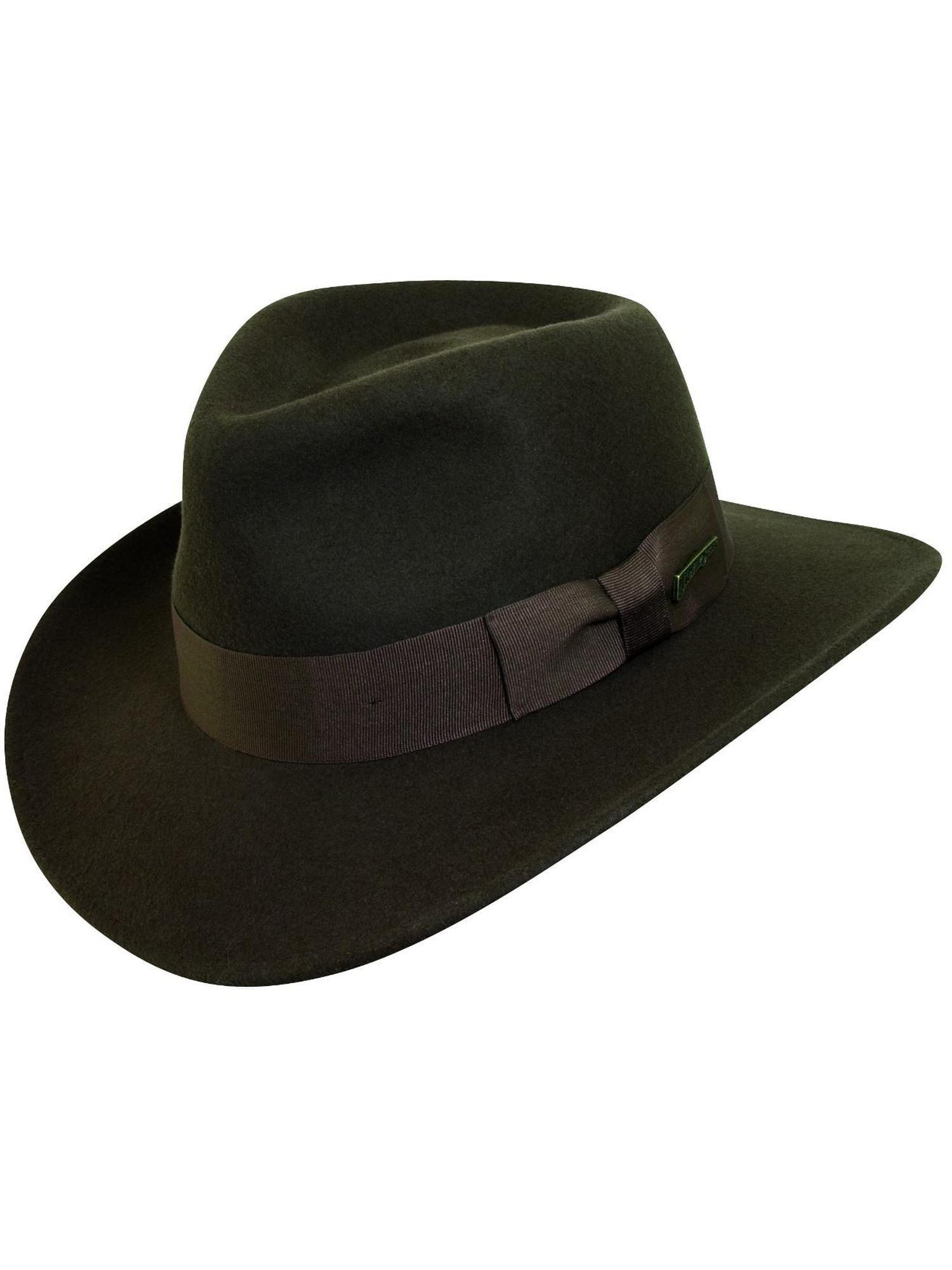 b325f909d17 ... shopping dorfman pacific mens indiana jones wool felt crushable outback  hat walmart 8cee9 dde93
