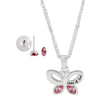 Child of God Pink Jewelry Set