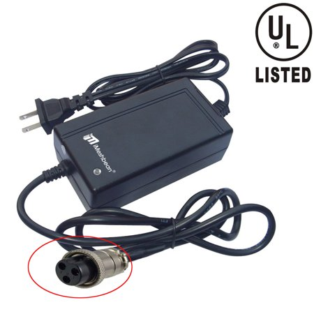 iMeshbean New 24V 2A 24 Volt 2 Amp Electric Bike Scooter Battery Charger Replacement for Boreem Jia 601-S / Boreem Jia 602-D (250 watt - Amp Bicycle