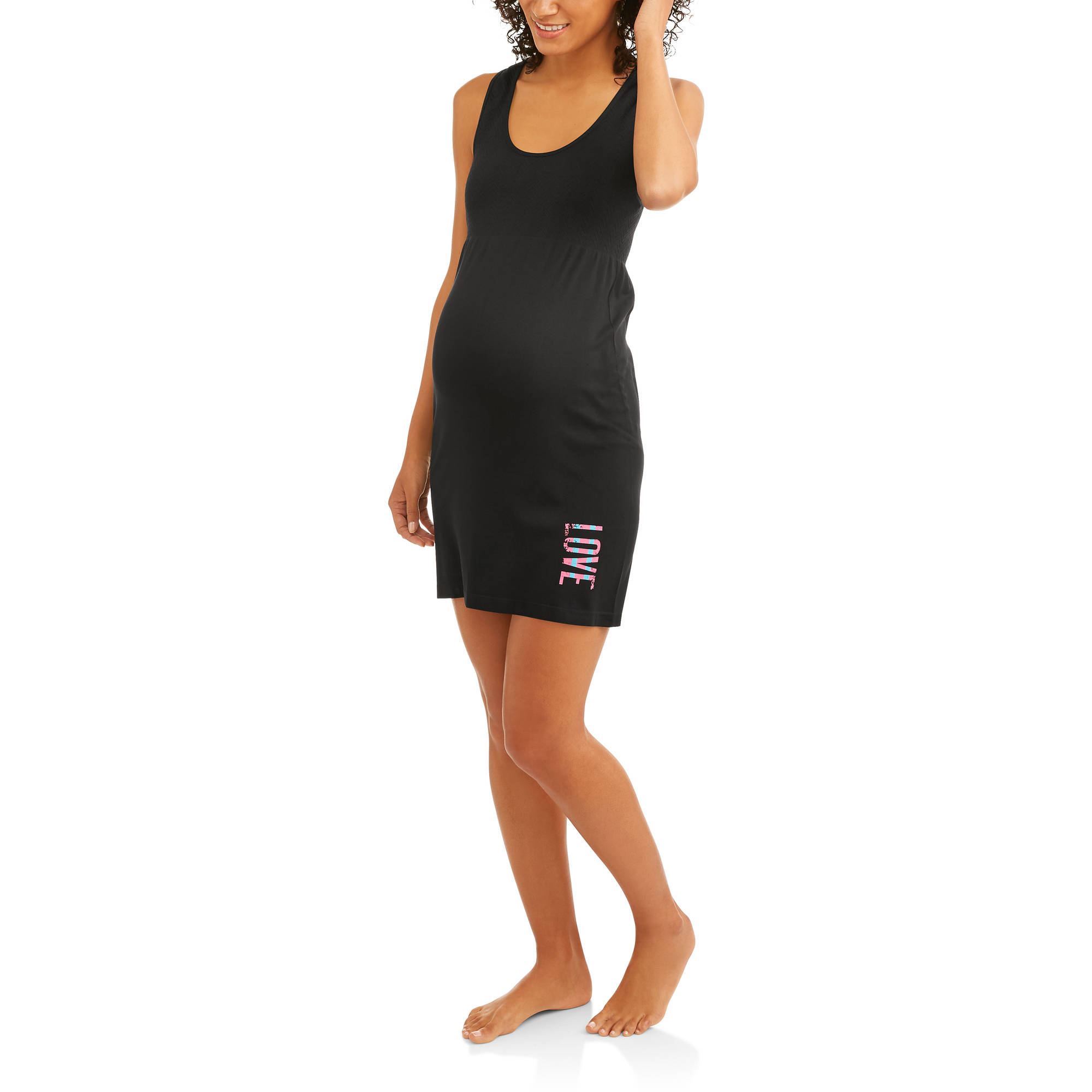 Labor Of Love Seamless Racer Back Chemise With Love Graphic-- Available In Plus Size