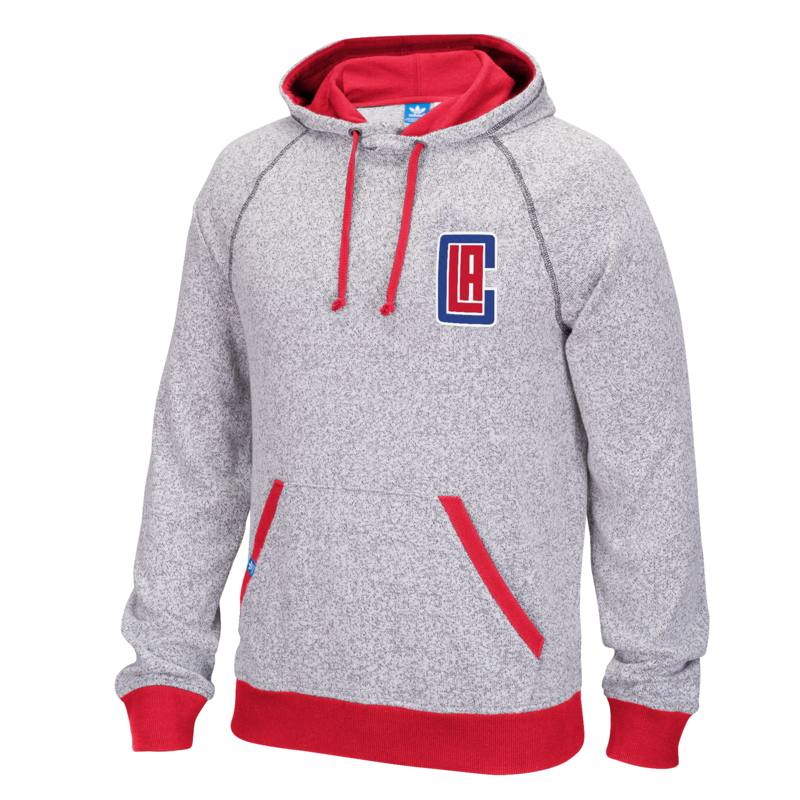 Adidas Los Angeles Clippers Originals Pullover Hoodie (Gray)