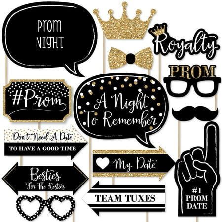Prom - Photo Booth Props Kit - 20 Count](Prom Decoration Kits)