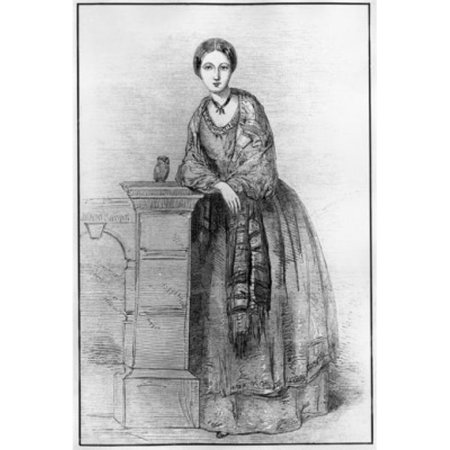 Posterazzi SAL99587186 Florence Nightingale As Young Girl with Her Owl Athena by Parthenope Nightingale Sister Poster Print - 18 x 24 in.