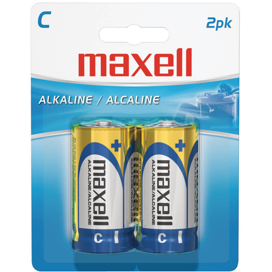 Maxell 723320 C Alkaline Batteries, 2-Pack, Carded