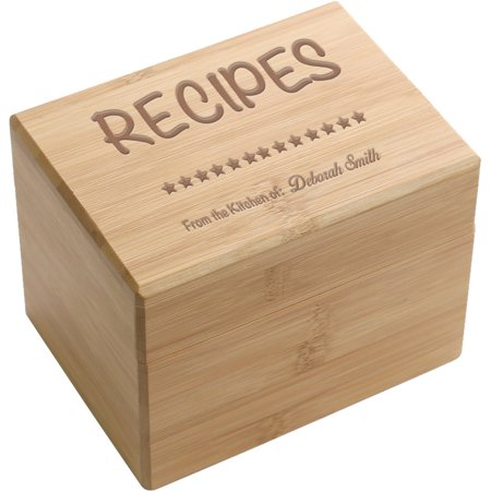 Family Heirloom Personalized Recipe Box (Personalized Boxes)