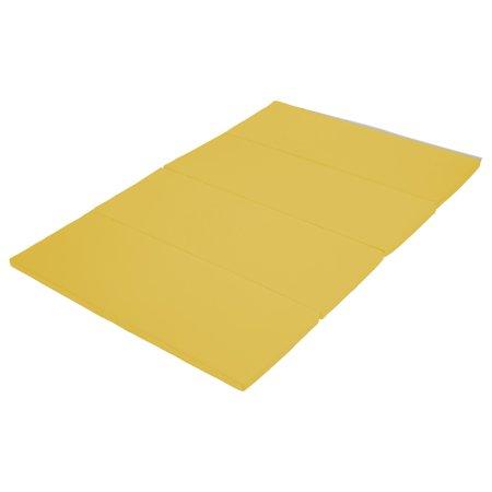 Softzone 174 4x6 Runway Tumbling Mat Yellow Walmart Com