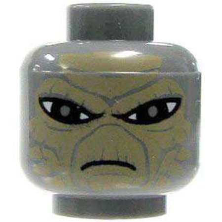 LEGO Star Wars Gray Alien with Sand Brown Scales Minifigure Head [No Packaging] - Grey Alien Mask