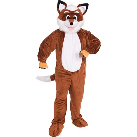 Fox Mascot Adult Halloween Costume - One Size