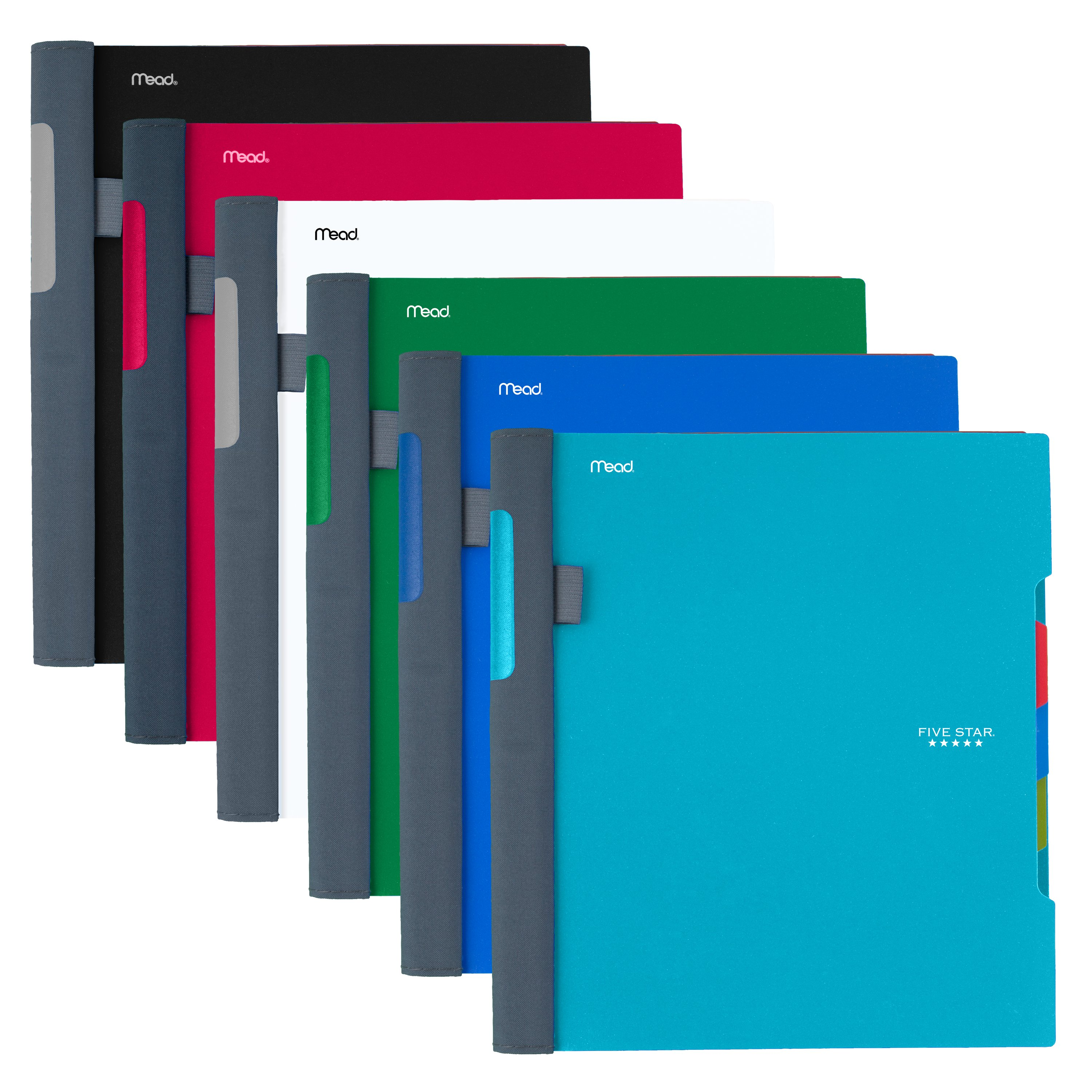"Five Star Advance Wirebound Notebook, 1 Subject, College Ruled, 11"" x 8 1/2"", Assorted Colors (11133)"