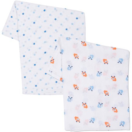 Gerber 2pk Swaddle Blanket Boy Walmart Com