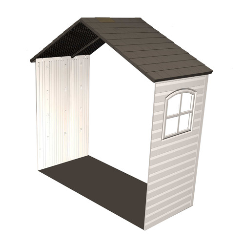 Lifetime 30 inch Shed Extension Kit for 8 Foot Sheds, 60169