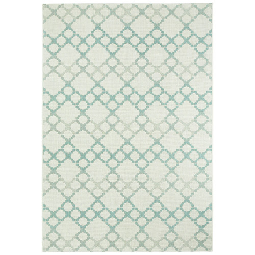 Capel Rugs Elsinore Blue Santorini Trellis Outdoor Area Rug