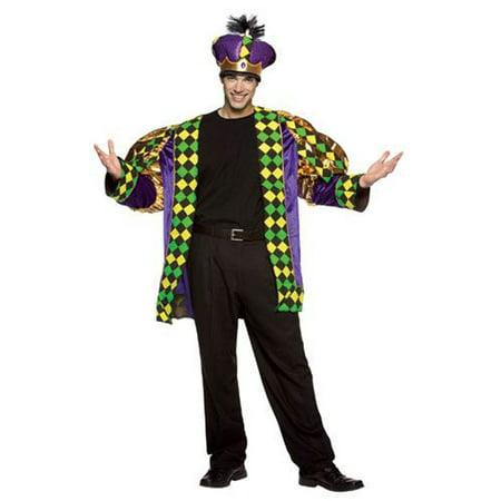 King Size Halloween Costumes (Mardi Gras King Men's Adult Halloween Costume, One Size,)