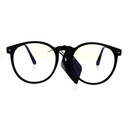 Round Circle Lens Keyhole Horned Thin Plastic Eye Glasses (Oversized Circle Glasses Prescription)
