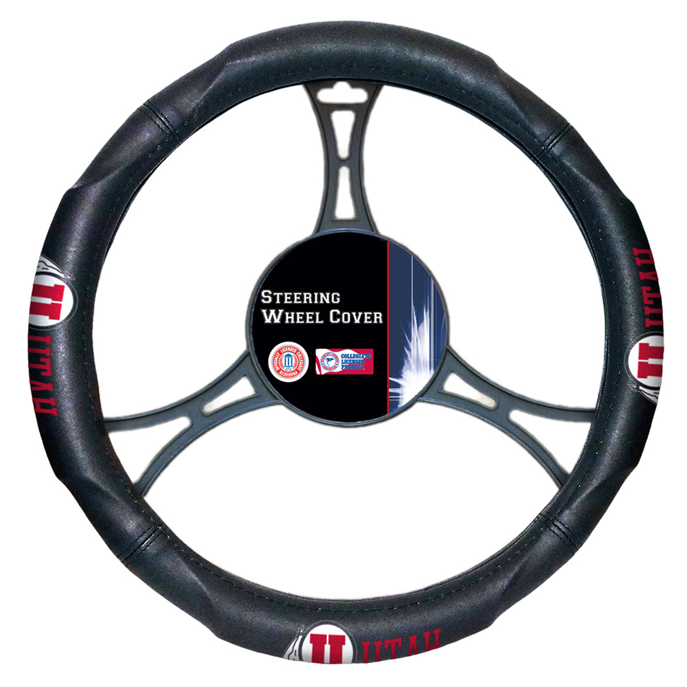 Utah Utes NCAA Steering Wheel Cover (14.5 to 15.5)