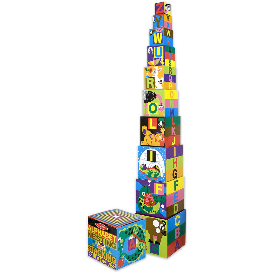 Melissa & Doug Alphabet Nesting and Stacking Blocks, UC