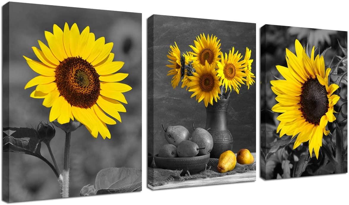 Sunflower Print Set Of Two Sunflowers Art Botanical Print Flower Kitchen Decor Floral Print Floral Wall Decor Sunflower Wall Art Giclee Art Collectibles Kromasol Com