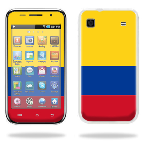 Mightyskins Protective Vinyl Skin Decal Cover for Samsung Galaxy Player 4.0 MP3 Player wrap sticker skins Columbian Flag