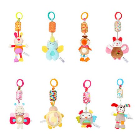 Children's Decoration Cute Butterfly Bat Baby Rattles Doll Baby Stroller Hanging Bed Hanging Toy Baby Infant Rattles