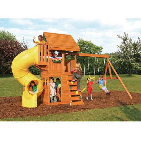 Grandview Deluxe Ready-to-Assemble Cedar Wooden Play Set