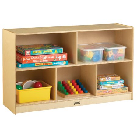 Jonti Craft Low Single 5 Compartment Shelving Unit With Casters