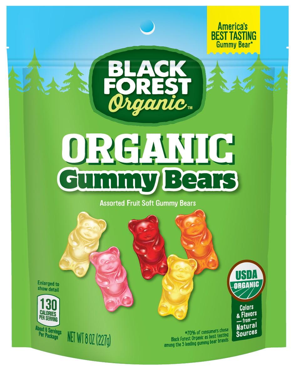 Black Forest Organic Gummy Bears Candy, 8 Ounce Bag by Ferrara Candy Company