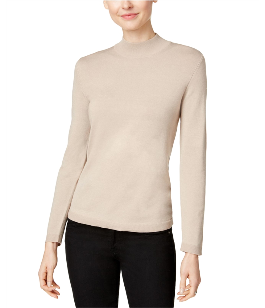 Charter Club Womens Mock-Turtleneck Pullover Sweater by Charter Club