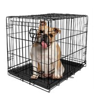 Vibrant Life Single-Door Folding Wire Dog Crate with Divider, 36""