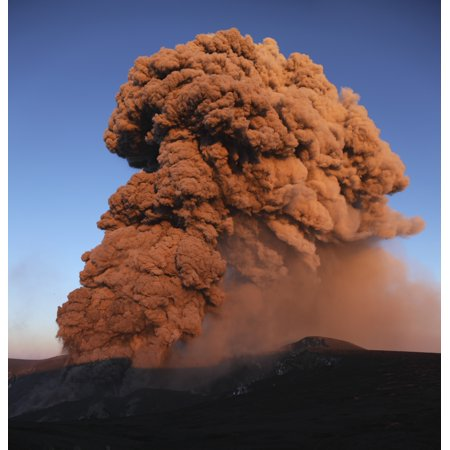 Eyjafjallajokull Eruption Summit Crater Iceland Rolled Canvas Art   Martin Rietzestocktrek Images  14 X 15