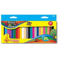 New 401915  24 Color 1Lbs.. Modeling Clay Sticks (24-Pack) Modeling Dough Cheap Wholesale Discount Bulk Stationery Modeling Dough Puncher