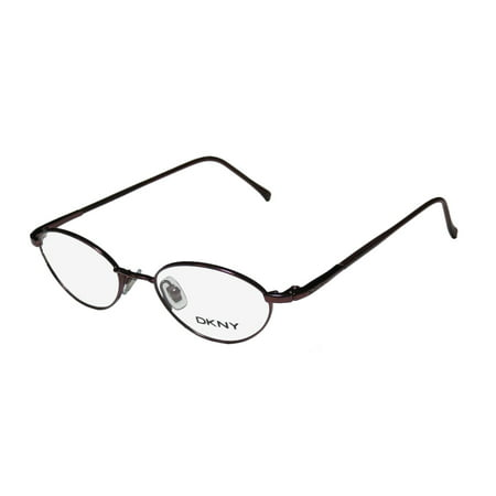 New Dkny 6207 Womens/Ladies Designer Full-Rim Burgundy Classic Shape Sophisticated Sleek Frame Demo Lenses 43-17-130 Eyeglasses/Glasses ()