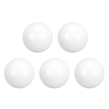 PTFE Ball, 9.5mm Dia, Ground Finish, Diaphragm Pneumatic Pump White, 5pcs