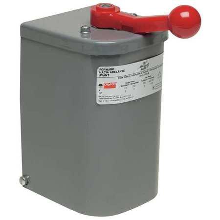 Dayton 2X443 Drum Reversing Drum Switch, Plastic Handle ()