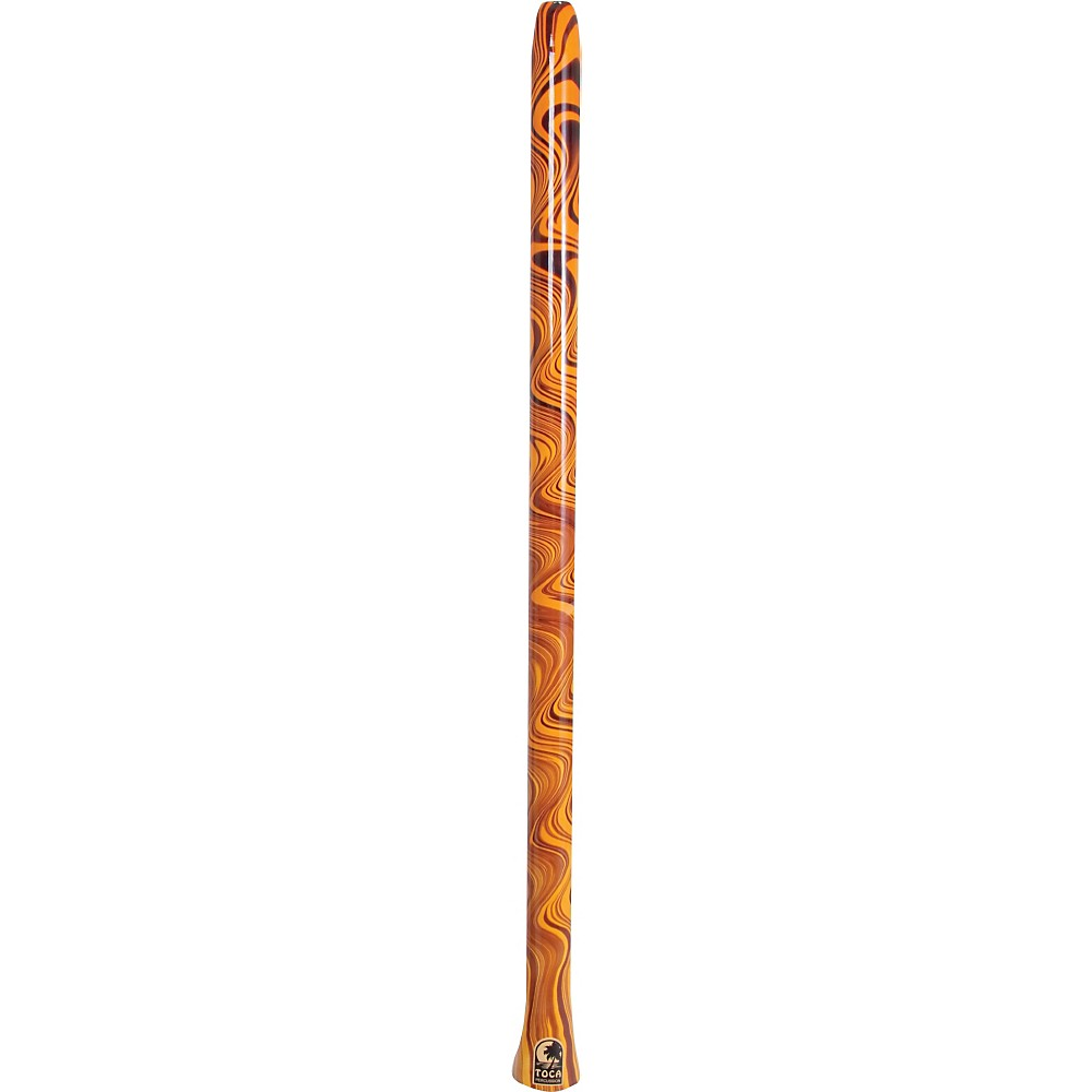Toca Duro Didgeridoo Orange Swirl by Toca