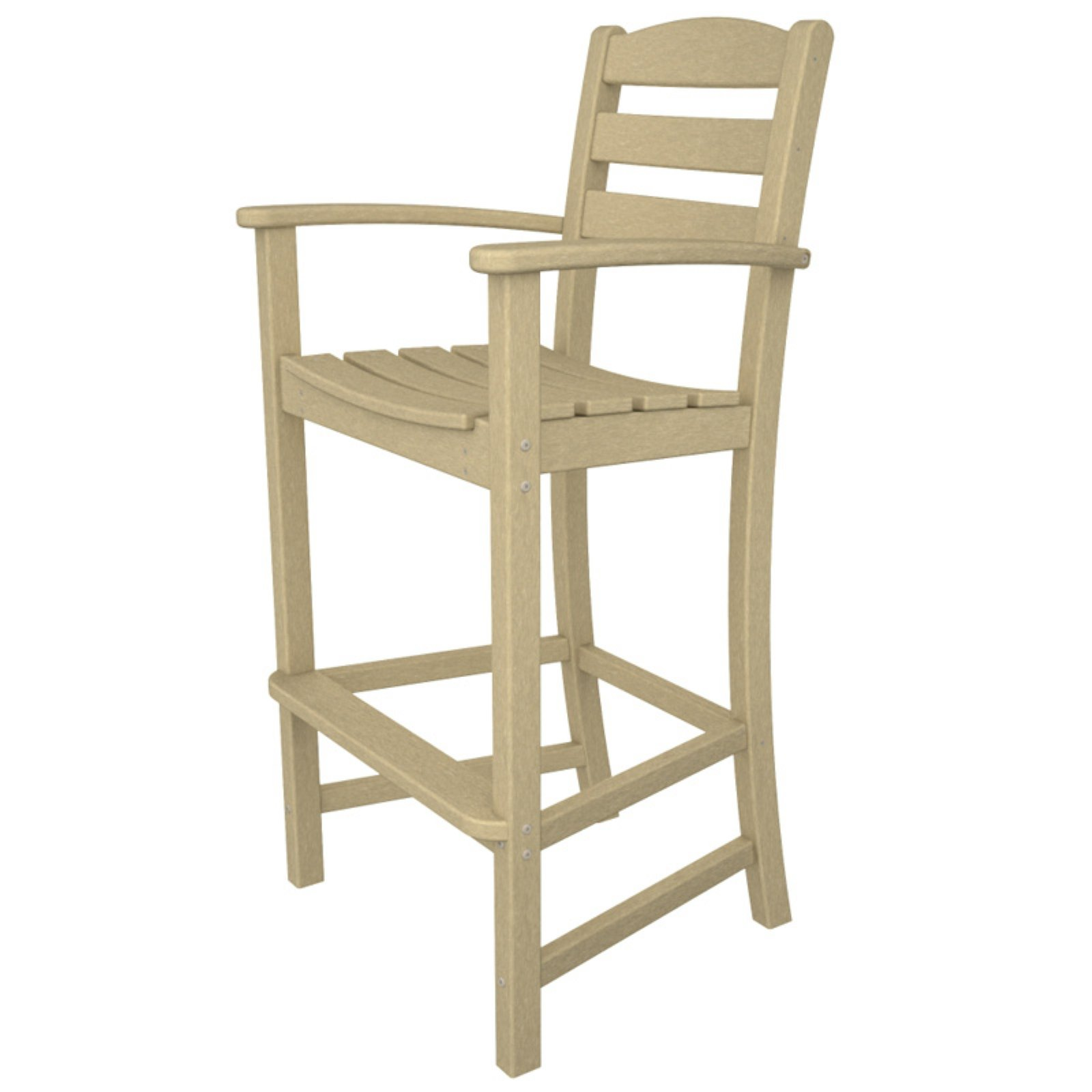 POLYWOOD® La Casa Cafe Recycled Plastic Bar Height Arm Chair