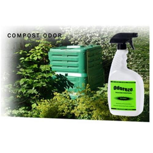 ODOREZE Natural Compost Smell Eliminator Spray: Makes 64 Gallons to Stop Composting Stench