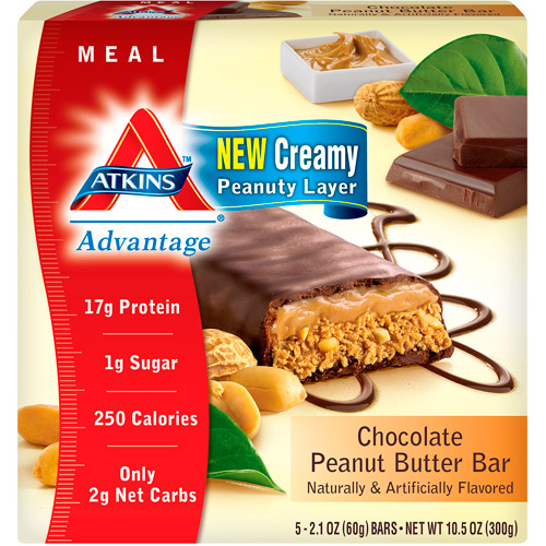 Atkins Advantage Bar Chocolate Peanut Butter, 5ct