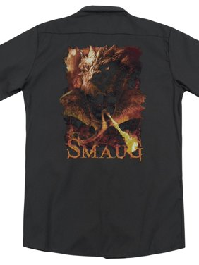 The Hobbit The Desolation Of Smaug Smaug's Fury Adult Black Back Work Shirt Tee