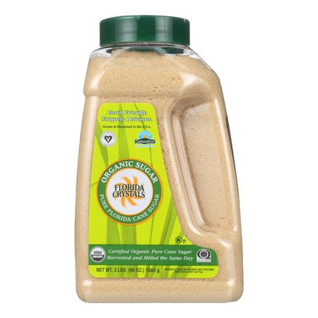 (2 Pack) Florida Crystal's Organic Cane Sugar, 3 Lb ()