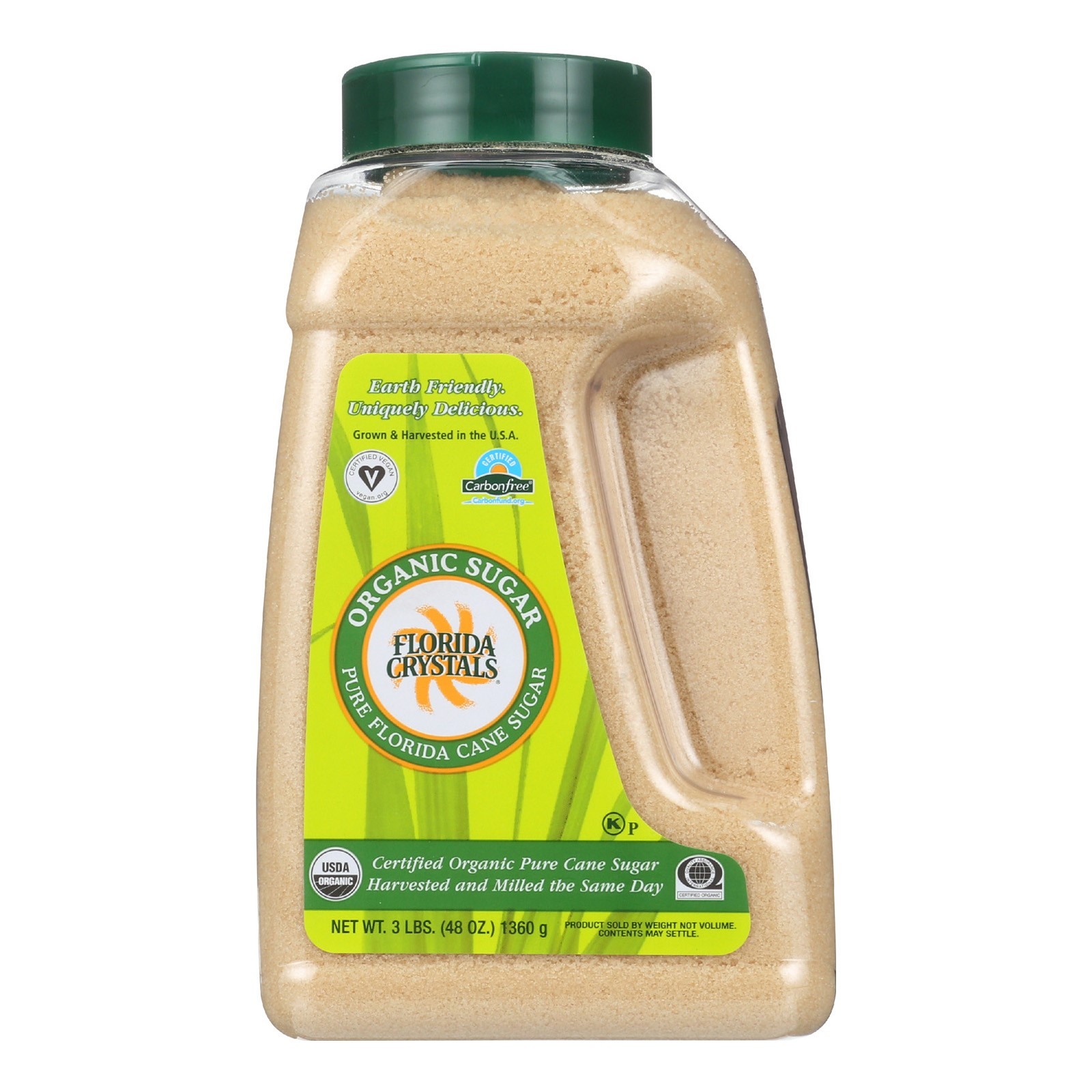 (2 Pack) Florida Crystal's Organic Cane Sugar 48 Oz Shaker