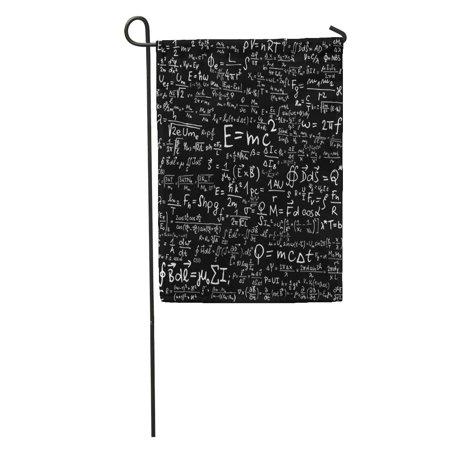KDAGR Einstein Blackboard Physical Equations and Formulas Physics Theory Math Garden Flag Decorative Flag House Banner 12x18 inch ()