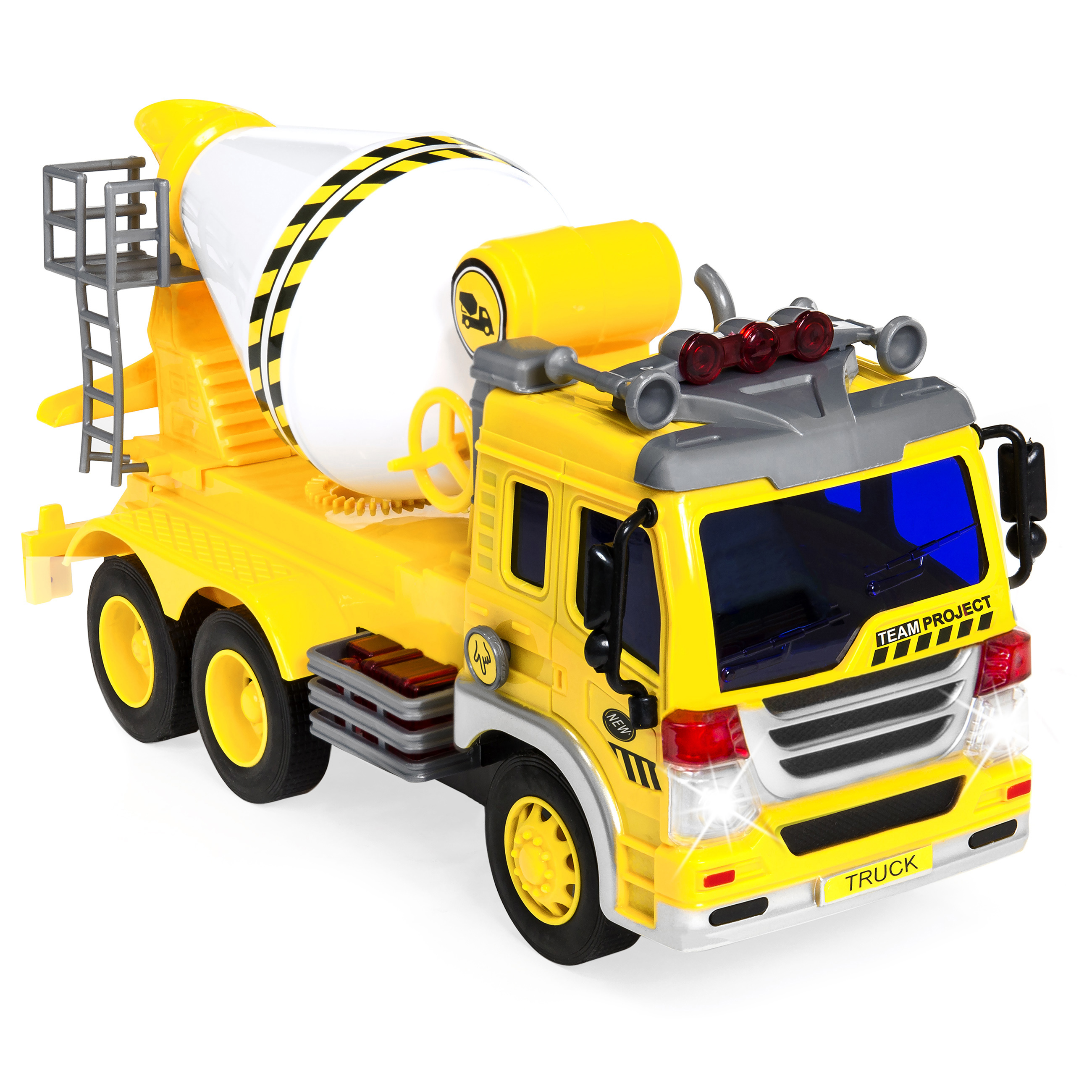 Best Choice Products 1 16 Scale Friction Powered Toy Cement Mixer Truck w  Lights and... by Best Choice Products