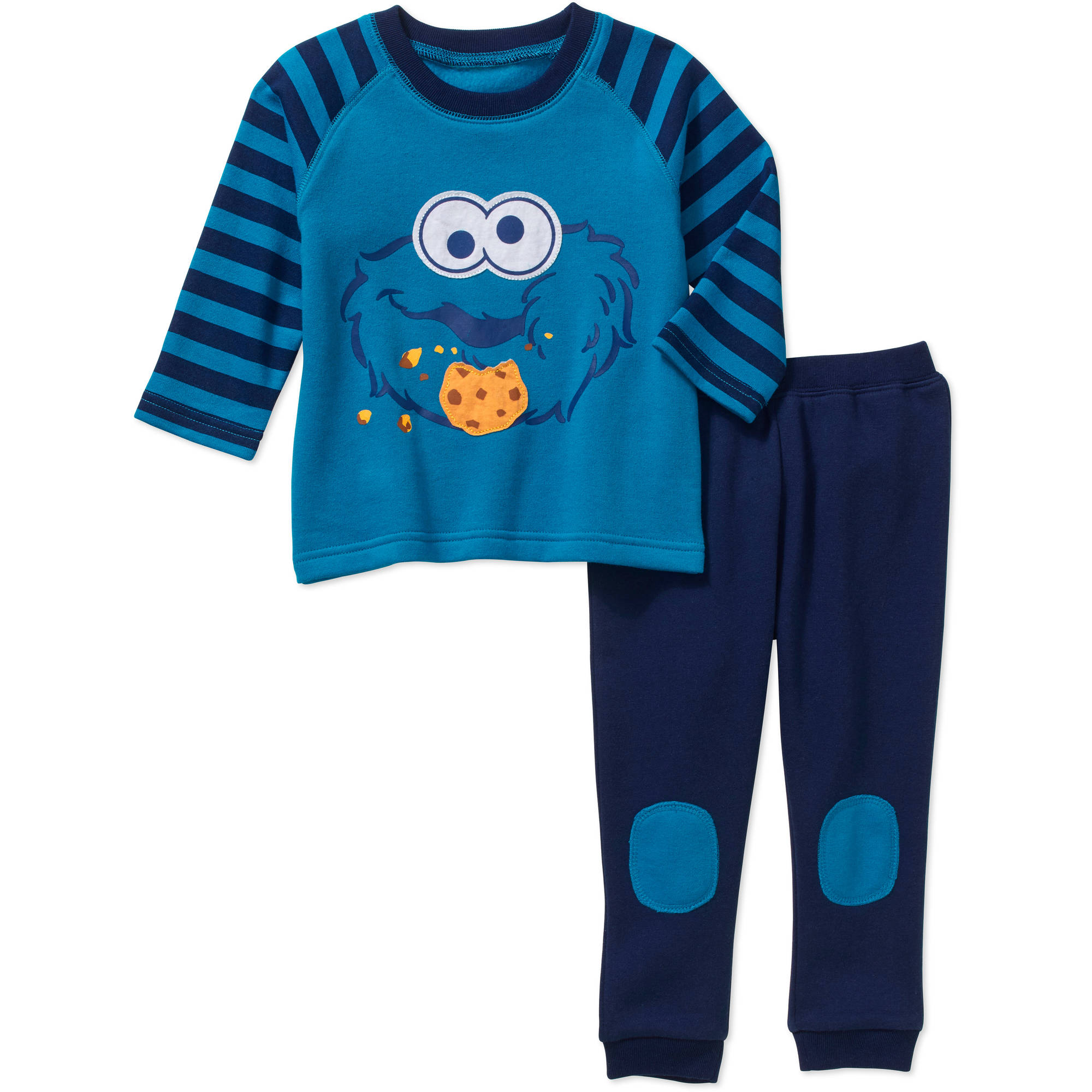 Cookie Monster Newborn Baby Boy Fleece Top and Pant 2 pc set