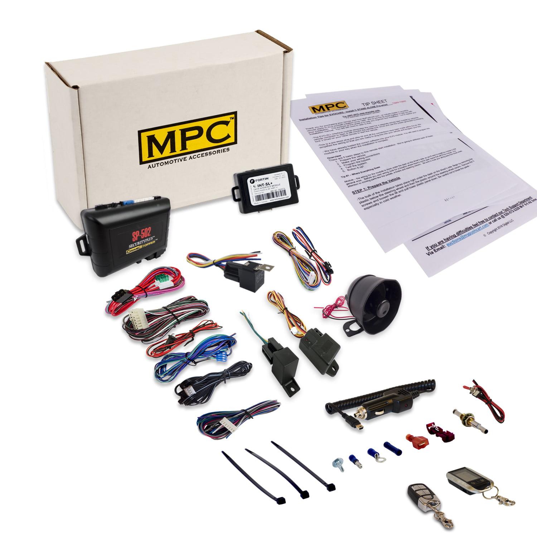 MPC Remote Car Starter & Car Alarm w/ 2-Way LCD Remote & ...