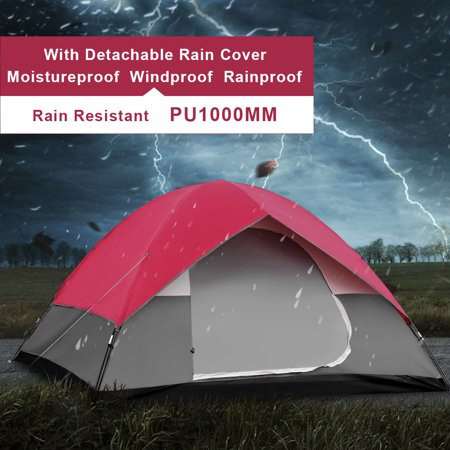 GymaxPortable 6 Person Family Tent Easy Set-up Outdoor