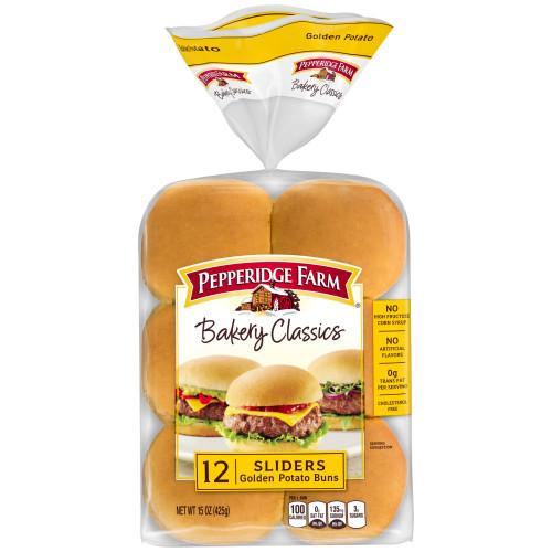 Pepperidge Farm Bakery Classics Golden Potato Slider Buns, 15 oz. Bag, 12-pack