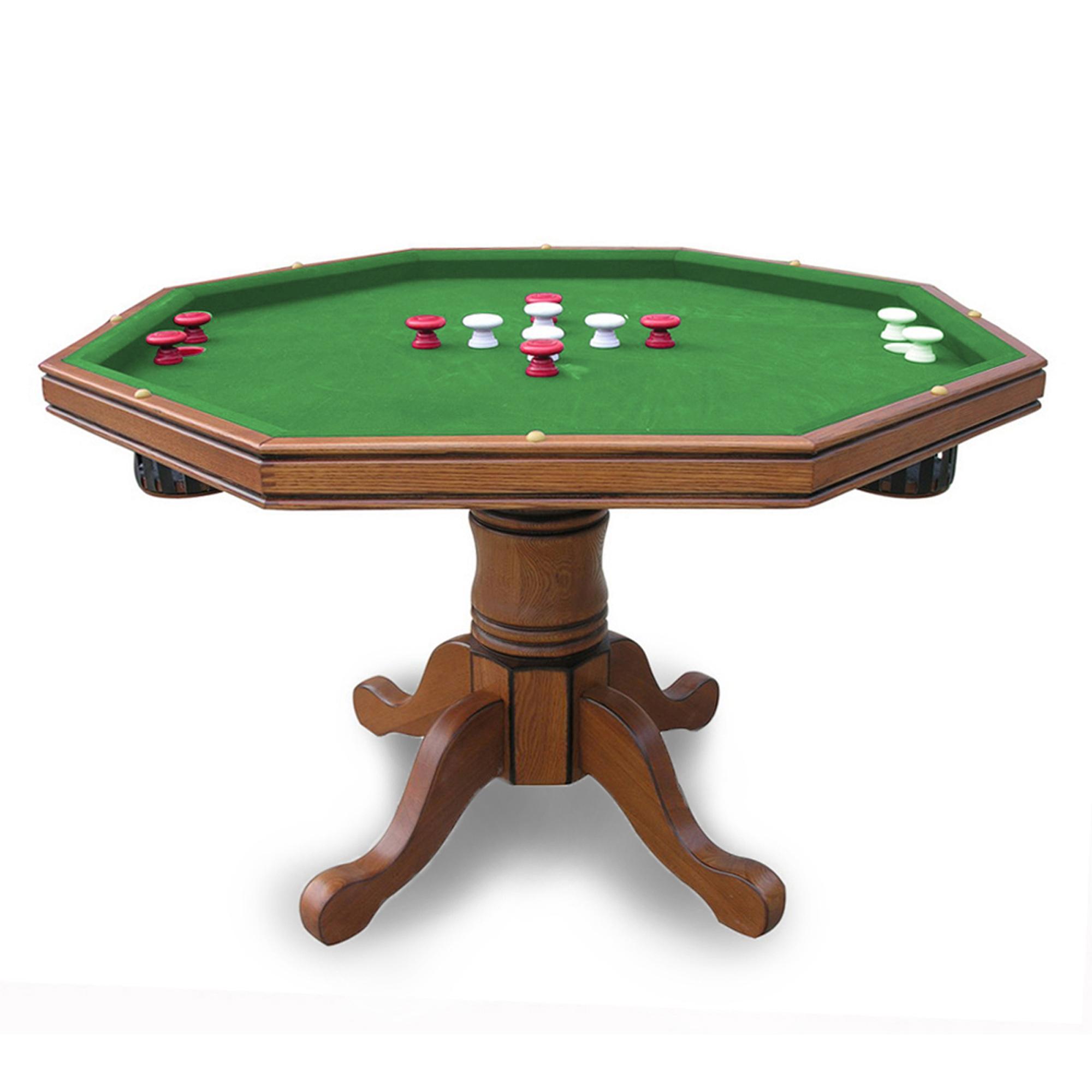 Hathaway Kingston Oak 3 in 1 Poker Table Walmart