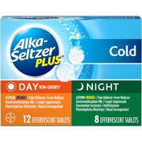 Alka-Seltzer Plus Cold Day Non-Drowsy and Night Multi-Symptom Relief 20 ct